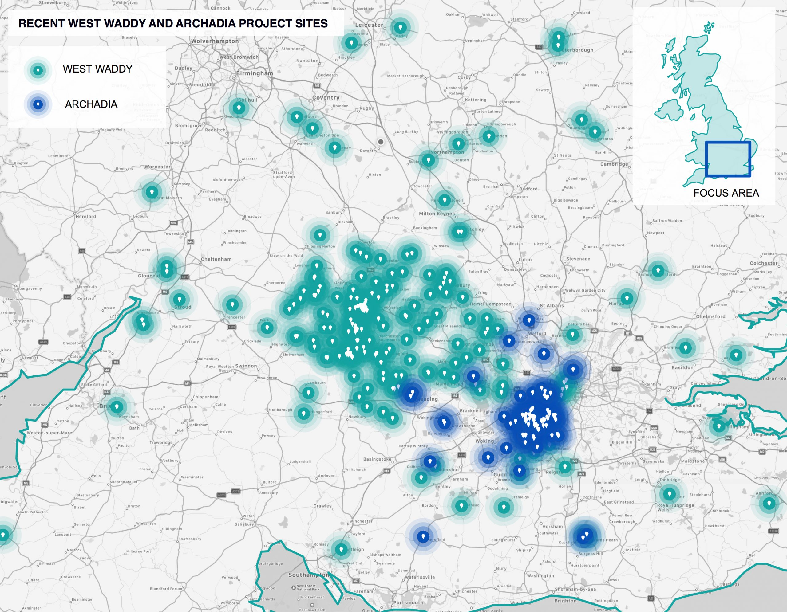 West Waddy, Architects, Town Planners, Urban Designers, Archadia, London, Oxford