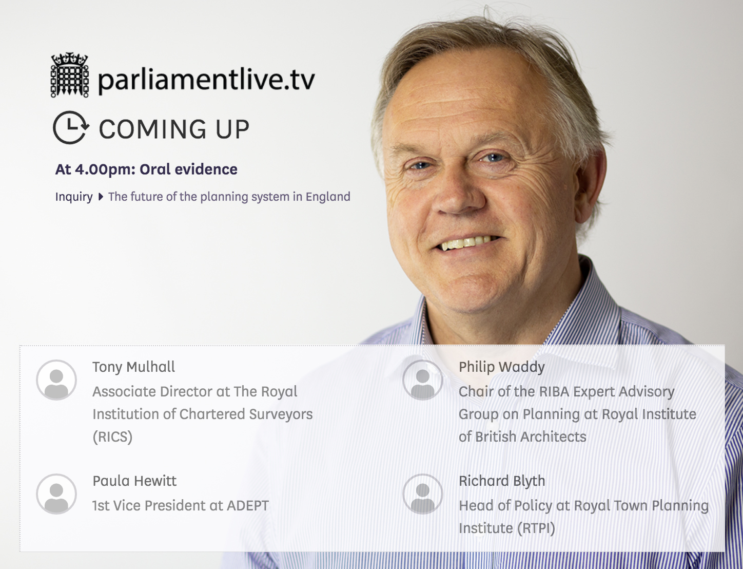 Philip Waddy, Parliament TV, Westminster, West Waddy, Architects, Town Planners, Urban Designers